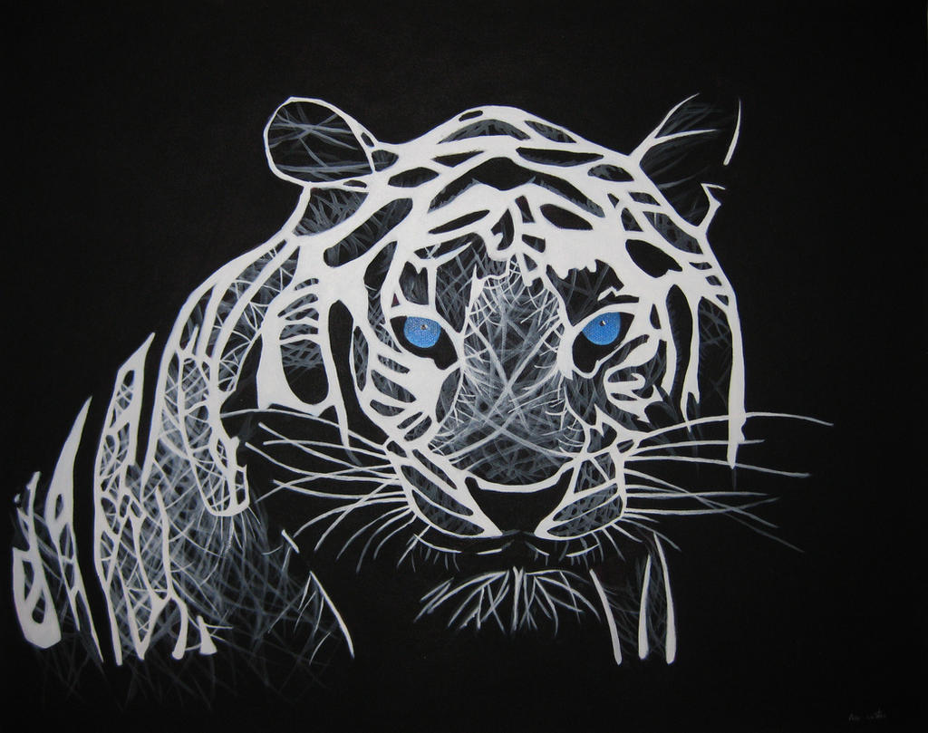 White Tiger by KikiNeko3