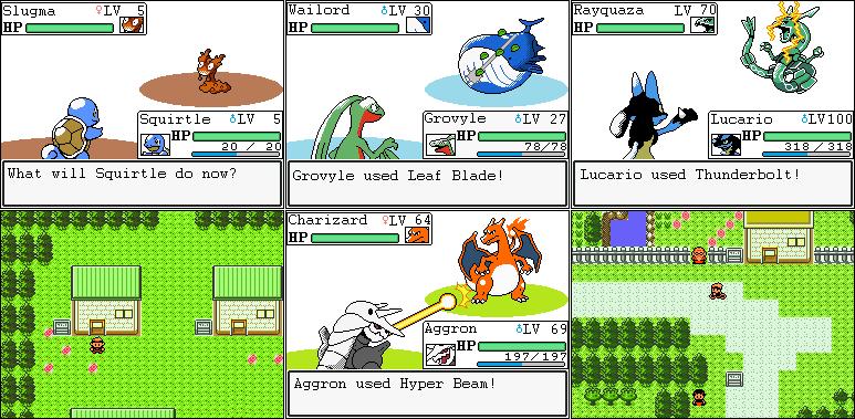 Pokemon Emerald Screen...