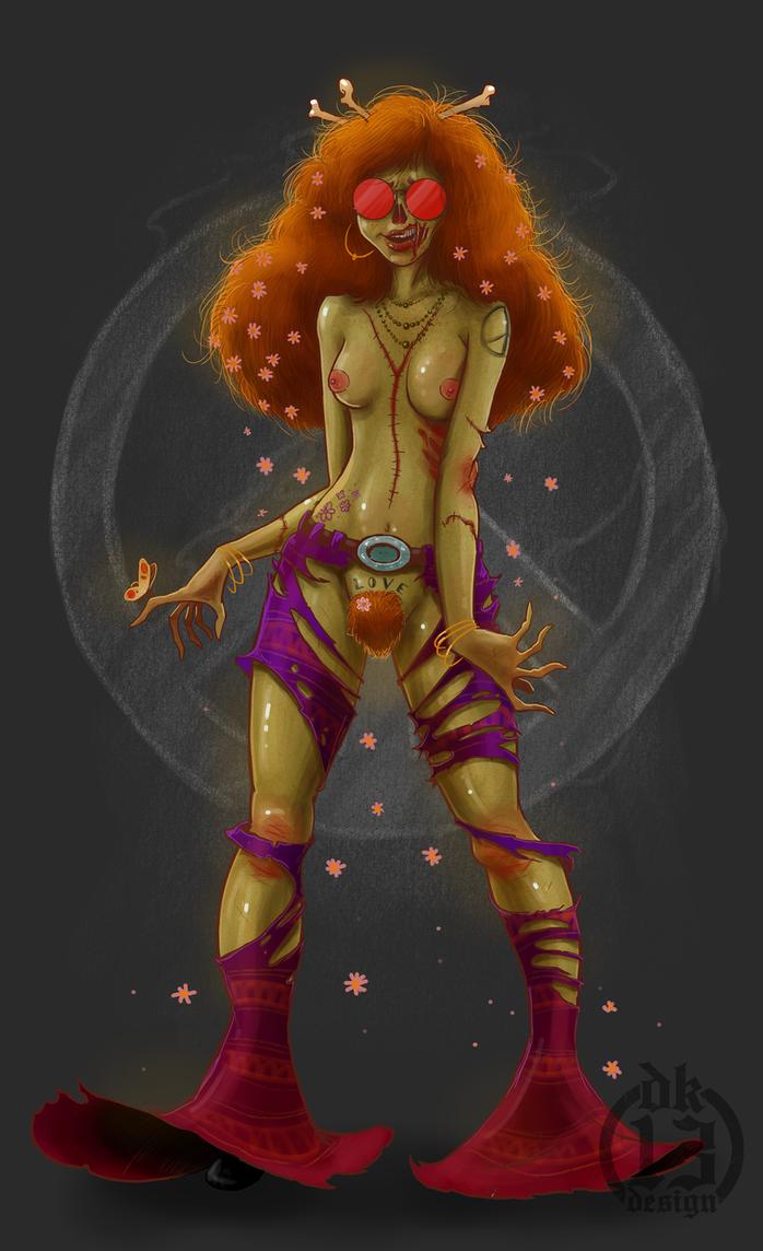 Hippie Zombie by DK13Design