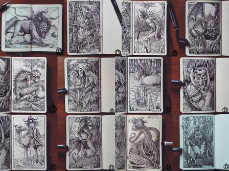 Bestiary sketchbook 1-12