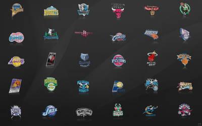NBA Team Logos Wallpaper by nbafan