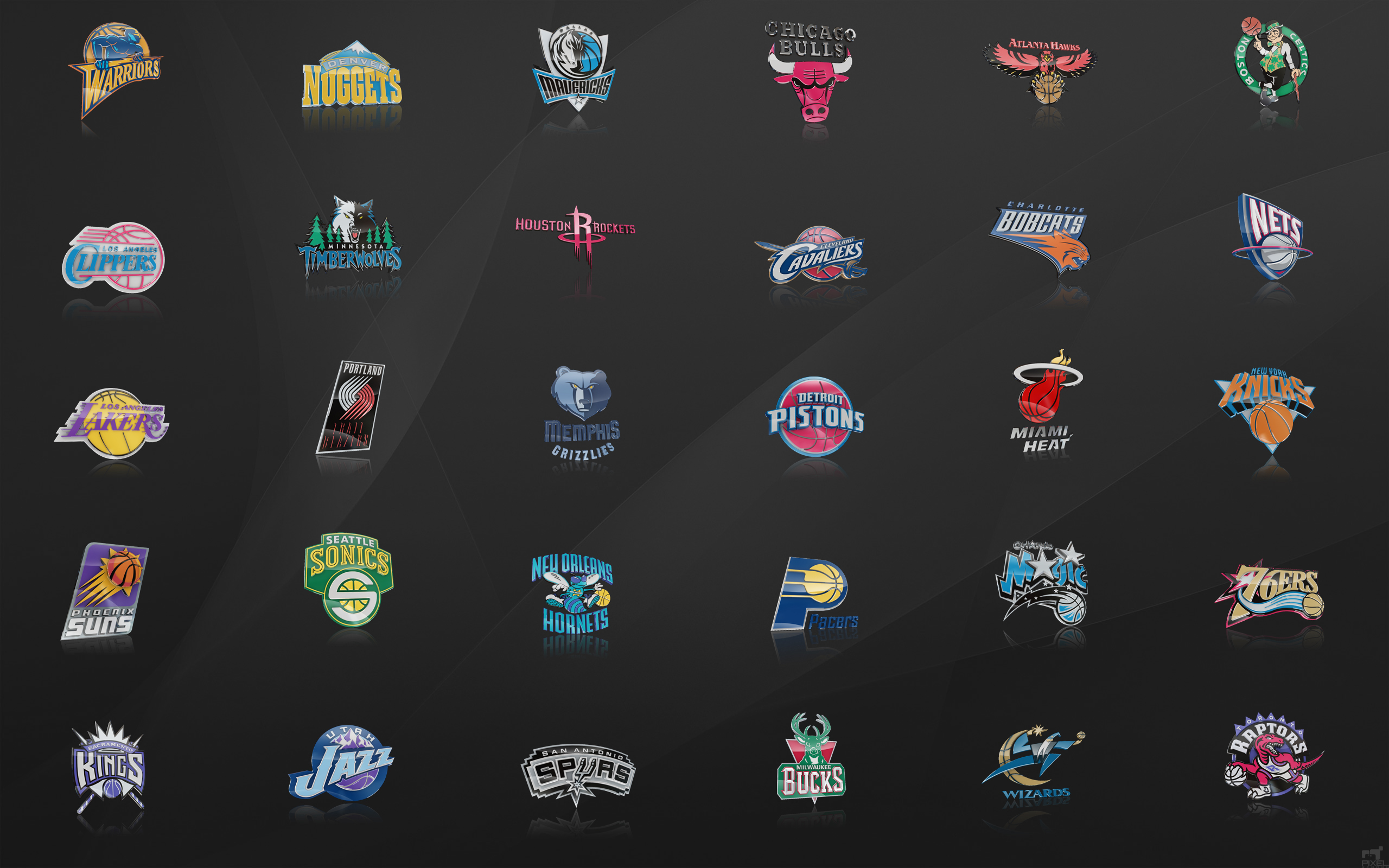 NBA Team Logos Wallpaper By Nbafan On DeviantArt