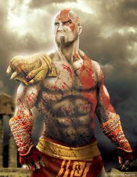 Kratos by johnpurontong