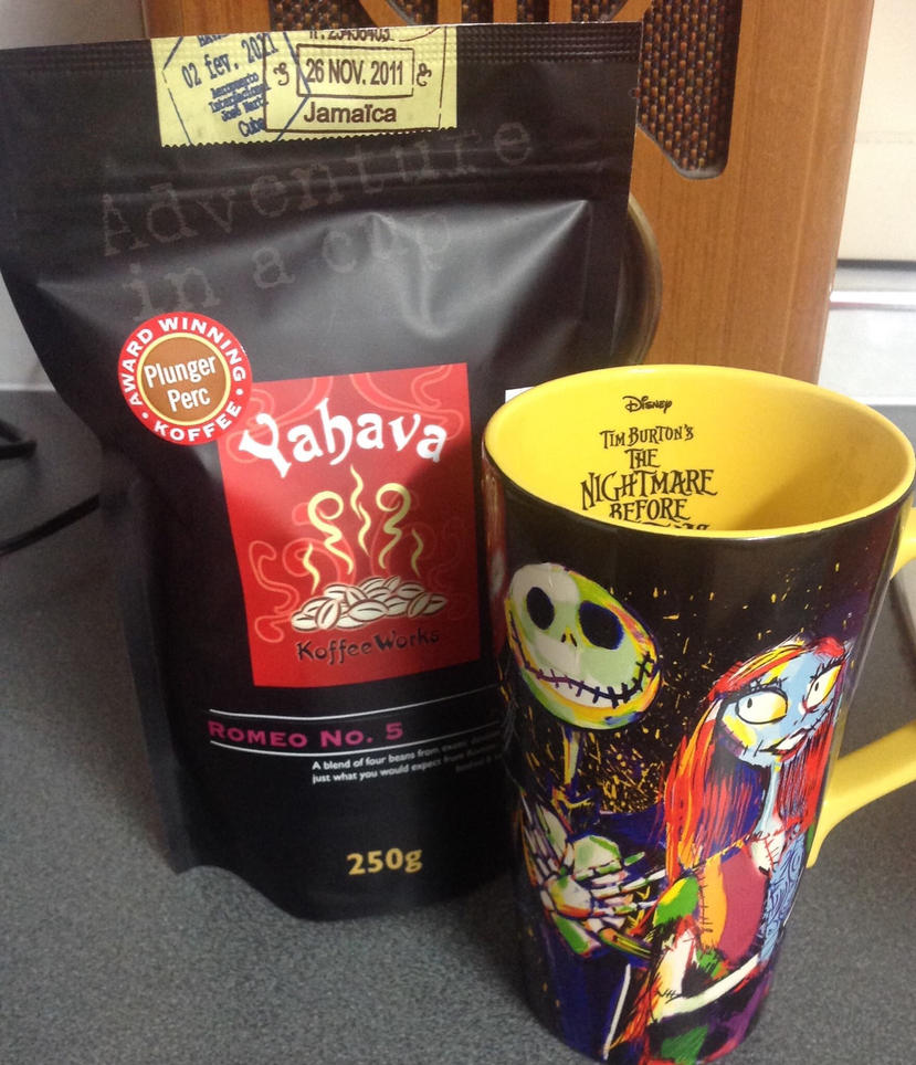 Yahava coffee with jack and sally by redhedgal