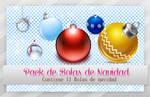 Pack de Bolas de Navidad Png ~*~