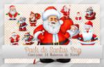 Pack de Santas Png ~*~