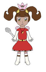 Food-based Magical Girl/Mascot by lalalei2001