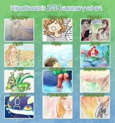 2014 summary of art ! by MinaChawn