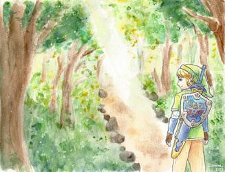 Zelda forest by MinaChawn