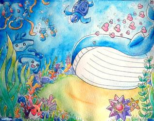 Underwater Pokemon by MinaChawn