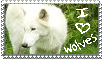 I Love Wolves Stamp by Gazzelles