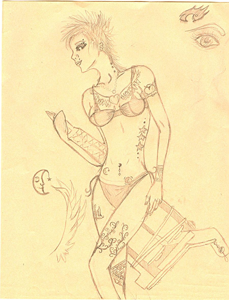 Tattoo gun girl by Skuttls on