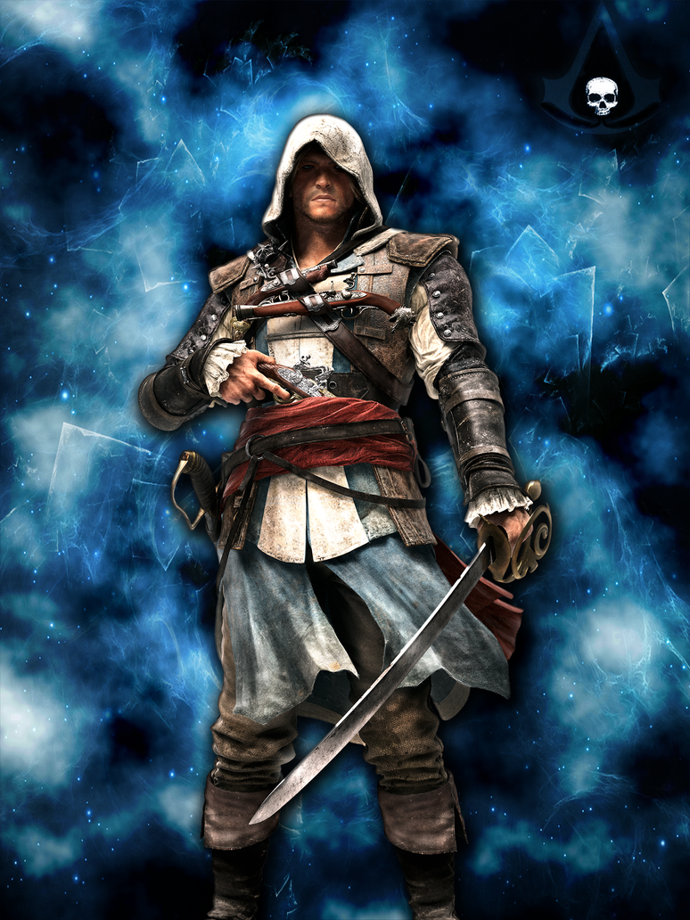 assassin 39 s creed iv iphone wallpaper logo by theeviln