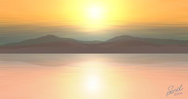 Sunset landscape by enosenol