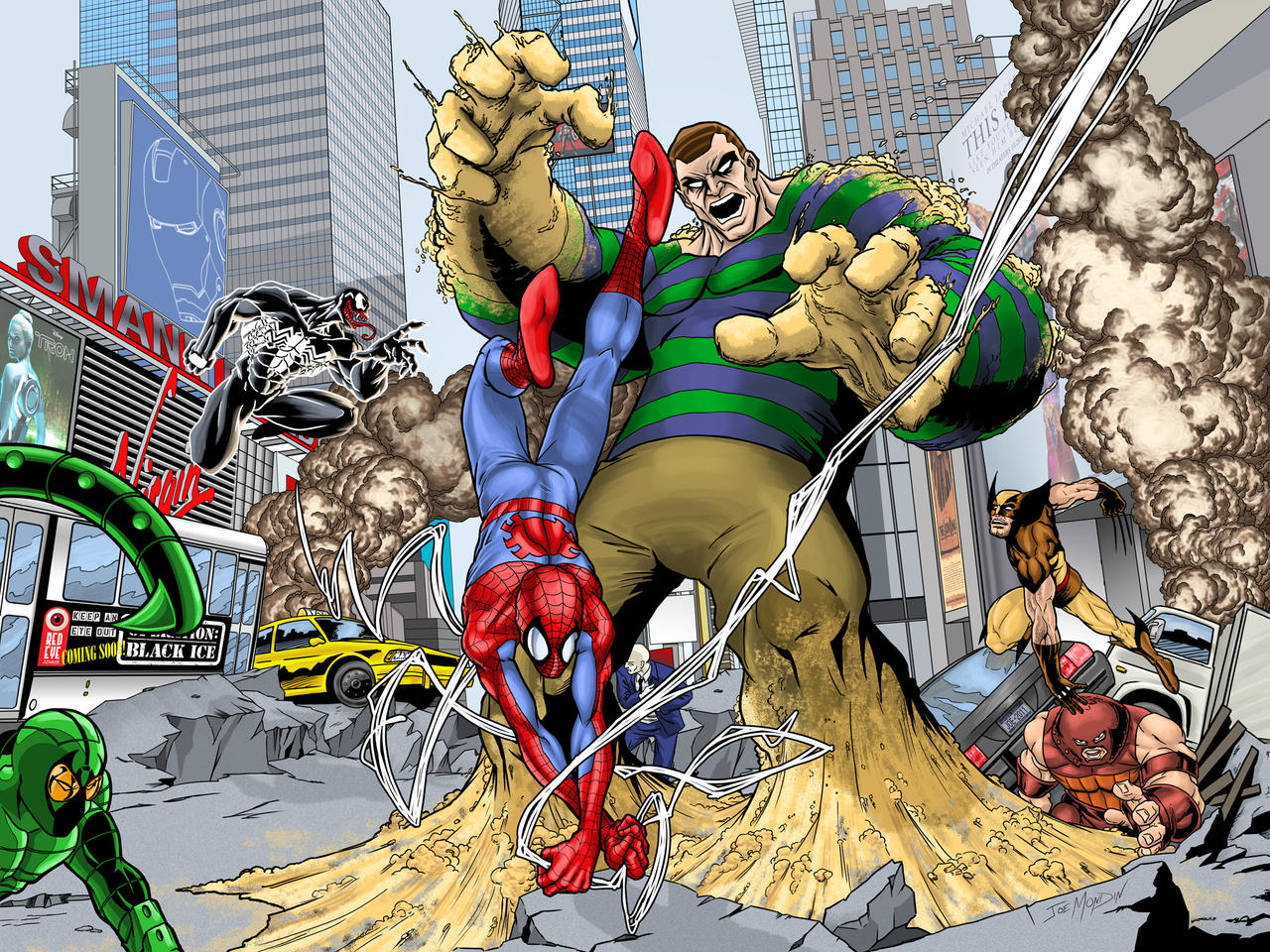 Spiderman Vs Sandman by JoeGrafix on DeviantArt