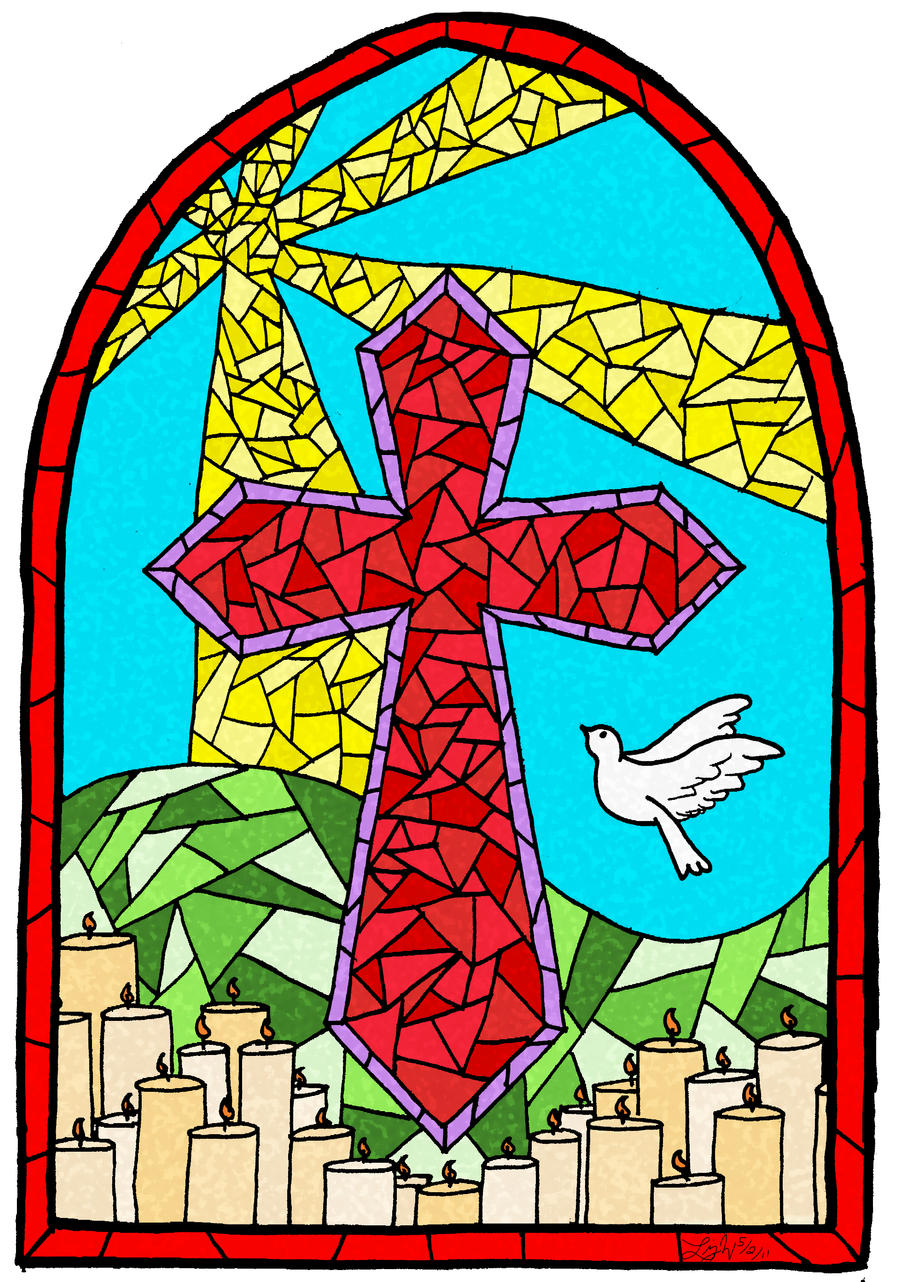 Stained Glass Clip Art : Stained glass cross by musicqueen on deviantart