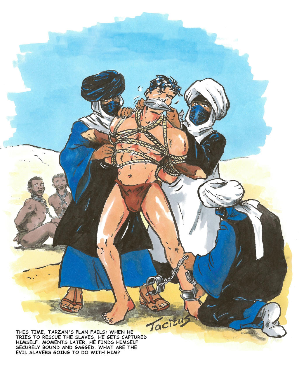 Tarzan captured by Arab slave traders by Tacitus3