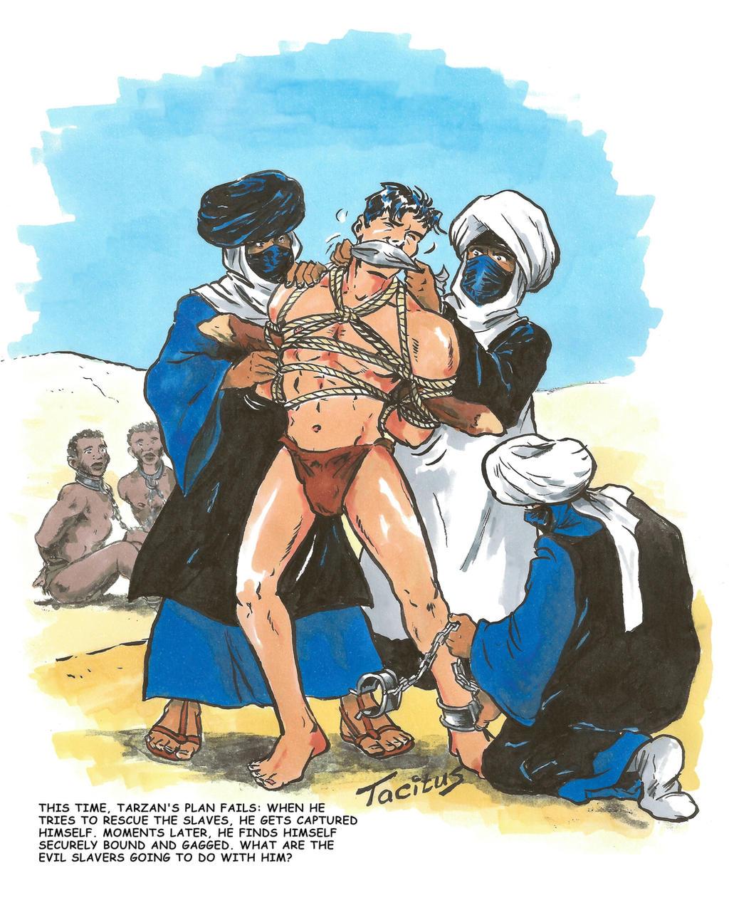 Tarzan captured by Arab slave traders by Tacitus3