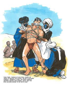 Tarzan captured by Arab slave traders
