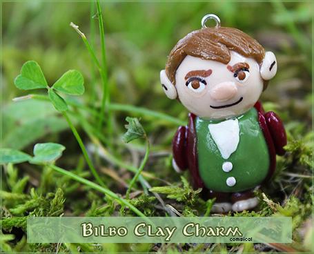 Bilbo Clay Charm by Comsical