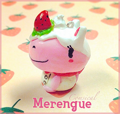 Merengue Clay Charm by Comsical