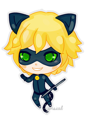 Cat Noir Chibi by Comsical