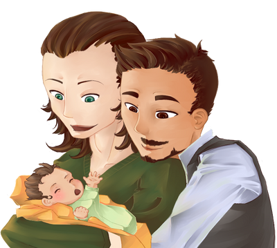 Tony and Loki and baby makes...
