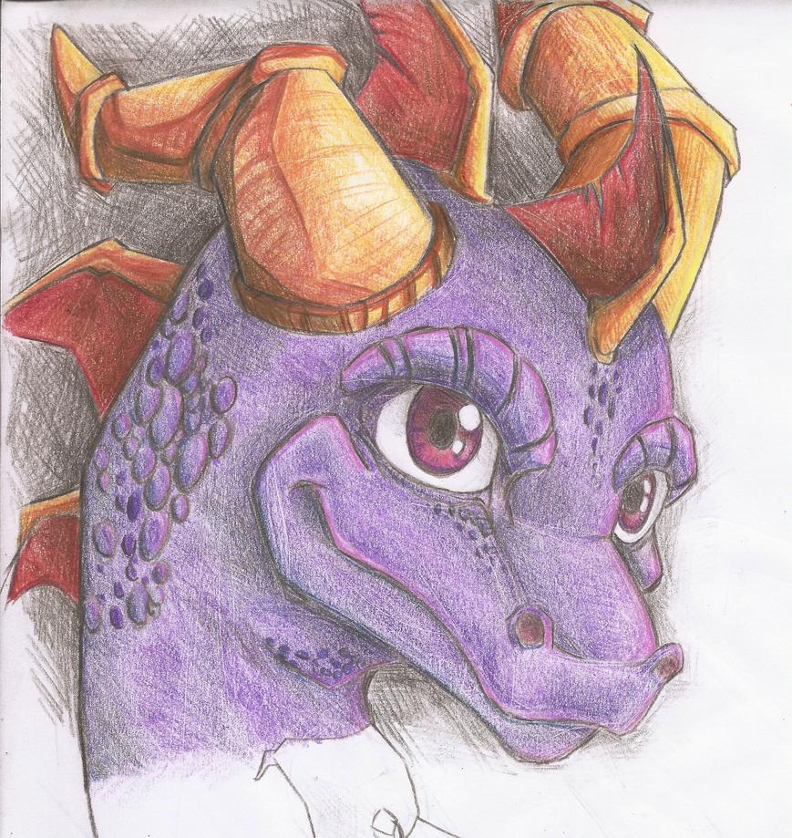 Spyro Doodle by Yenvaloce