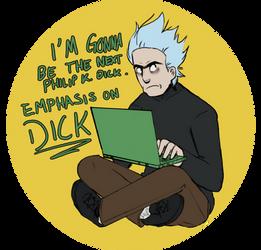 Novelist Rick- Pocket Mortys by Demigoddess5