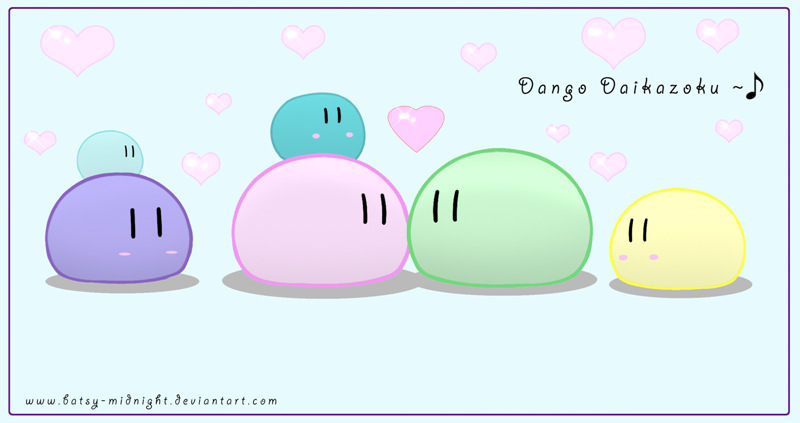 La mascota más mona de anime _____Dango_daikazoku______by_Batsy_Midnight
