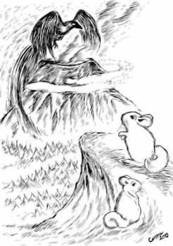 Inktober #13: Hibibi and the Ashen Crow