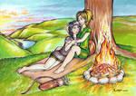 Alirah and Sirena (Art Trade) by Corppu