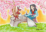 Spring Tea Time by Corppu