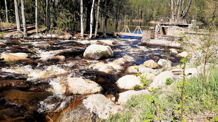 Rapids and Old Mill Foundations
