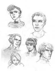 January Sketches (ATLA, Sherlock...)