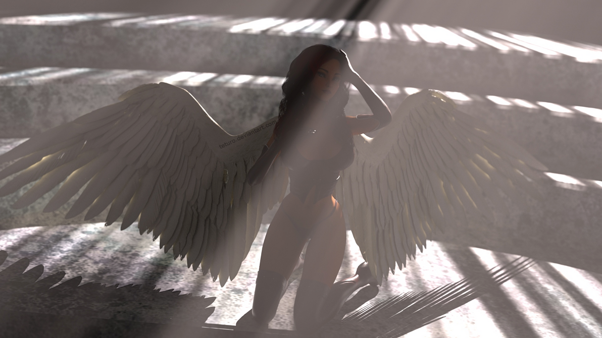 Fallen Angel by teturo