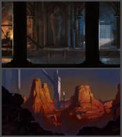 Locations Mood Sketches by Kuvshinov-Ilya