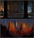Locations Mood Sketches