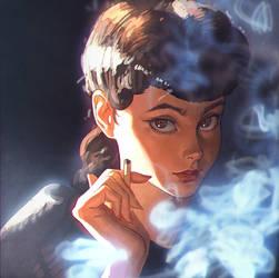 Blade Runner Rachel by Kuvshinov-Ilya