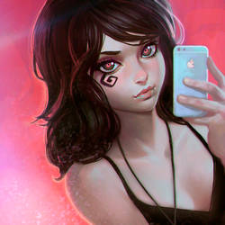 Death selfie by Kuvshinov-Ilya