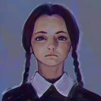Wednesday Addams sketch by Kuvshinov-Ilya
