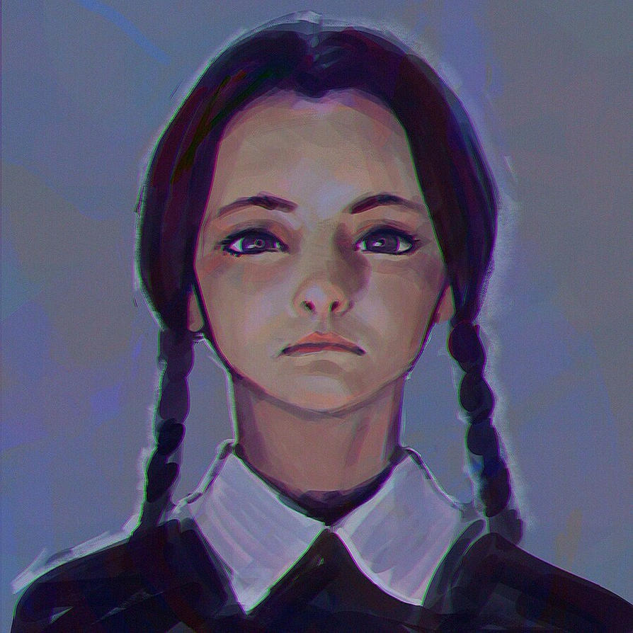 Wednesday Addams sketch by KR0NPR1NZ