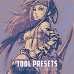 KR0NPR1NZ Tool Presets Brushes and Rikku sketch