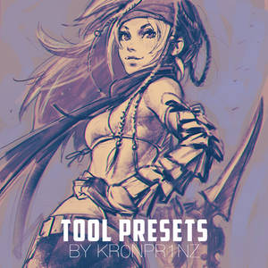 KR0NPR1NZ Tool Presets Brushes and Rikku sketch