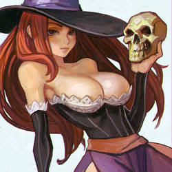 Dragon's Crown Sorceress sketch by Kuvshinov-Ilya