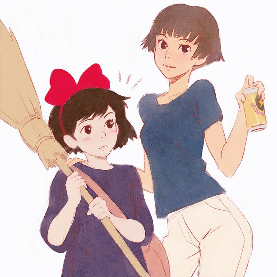 Risa and Kiki by KR0NPR1NZ