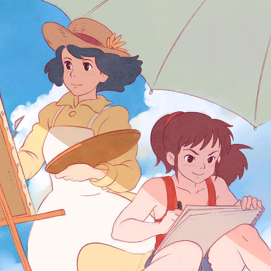 Ursula and Naoko by KR0NPR1NZ