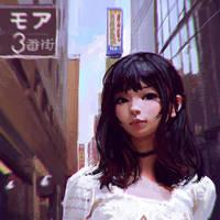 Shinjuku by Kuvshinov-Ilya