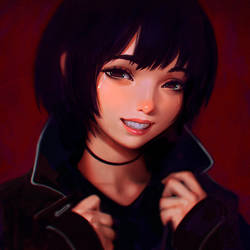 Smile Like You Mean It by Kuvshinov-Ilya