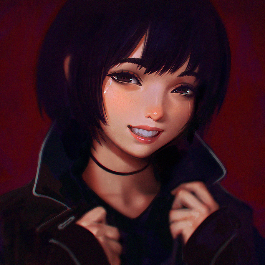 Smile Like You Mean It by Kuvshinov-Ilya
